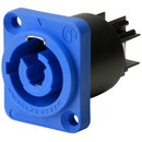 Neutrik NAC3MPA-1 powerCON Chassis Connector Power In Blue