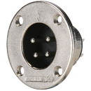 Amphenol EP-4-14 4-Pole EP Male Round Flange Chassis Connector