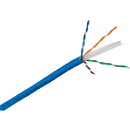 Parts Express CAT 6 23 AWG CMR 600 MHz U/UTP Solid Bare Copper Cable Blue 1000 ft. Pull Box