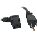 IEC 3 ft. Right Angle AC Power Cord Black 18/3 Parts Express