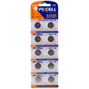 PKCELL 10-Pack AG13 A76 LR44 Button Cell
