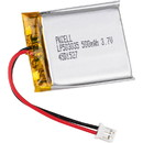 PKCELL Flat 3.7V 500mAh Rechargeable Lithium Polymer 503035 Battery with Plug