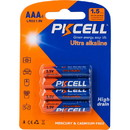 PKCELL 1.5V AAA Ultra Alkaline Battery 4-Pack