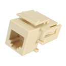Parts Express Crimpless RJ12 Keystone Type Jack Ivory