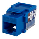 Parts Express Cat 5e Blue Keystone Jack Punch Down