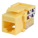 Parts Express Cat 6 Yellow Keystone Jack Punch Down