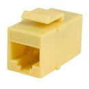 Parts Express Cat 6 RJ45 Inline Coupler with Keystone Latch - Yellow