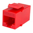 Cat 6 RJ45 Inline Coupler with Keystone Latch - Red