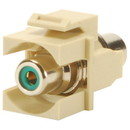 Wired Home KMN5K7 Keystone Module Green RCA Coupler Ivory