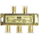 RCA DH44SPF 4-Way 2.4 GHz Bi-Di Gold Plated Coaxial Splitter