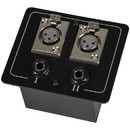 Parts Express Floor / Surface Mount Stage Box with Two XLR Female and Two 1/4