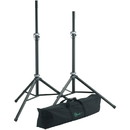 K&M 21459 6 ft. Adjustable Tripod Speaker Stand Pair with Bag