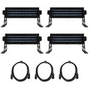 Parts Express Stage and Disco DJ Party LED Mini Bar Lighting Bundle Combo #4