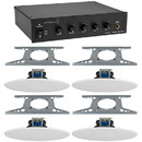 Parts Express Dayton Audio DA10T 10W 70V Tabletop Mixer-Amplifier with (4) 8