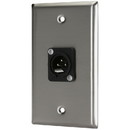Pro Co WP1027 (1) XLR Male Stainless Steel Metal Wallplate Single Gang