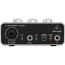 Behringer UM2 U-Phoria Audiophile 2 x 2 USB Audio and MIDI Interface with XENYX Preamplifier