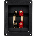 Parts Express Gold Plated Bi-Amp Speaker Wire Terminal Cup Banana Binding Post