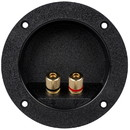 Parts Express Gold Banana 5-Way Binding Post Round Recessed Speaker Terminal Cup