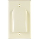 Single Gang Bulk Cable Wall Plate Ivory