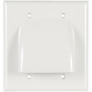 Dual Gang Bulk Cable Wall Plate White