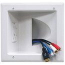 DataComm 45-0031-WH Recessed Low Voltage Media Plate with Duplex Receptacle White