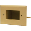 DataComm 45-0008-IV Easy Mount Recessed Low Voltage Cable Plate Ivory