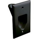 DataComm 45-0001-BL Recessed Low Voltage Cable Plate Black