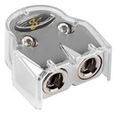 Stinger SHT303 Shoc-Krome Dual HPM +/- Battery Terminal with Two 1/0 or 4 AWG Outputs