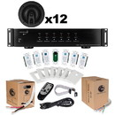 Parts Express Complete 6-Zone Distributed Audio Matrix Bundle with Ceiling Speakers and Wire