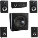 Parts Express B652 5.1 Home Theater Surround Sound Speaker System with 12