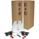 Parts Express TriTrix MTM TL Tower Speaker Components And Cabinet Kit Pair