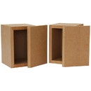 Denovo Audio Knock-Down MDF 0.04 cu. ft. Micro Bookshelf Speaker Cabinet Pair