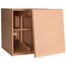 Denovo Audio Knock-Down MDF 2.0 cu. ft. Subwoofer Cabinet