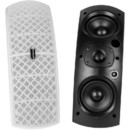 Dayton Audio QS204W-4 Quadrant 70V / 100V Indoor/Outdoor Speaker Pair with 4 Ohm Bypass - White