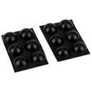 Parts Express Adhesive Rubber Feet Dome Shaped 12-Pack