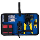 Parts Express Network Ethernet LAN Install Tool Kit with Cable Tester and Case
