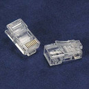 Dalco 57065 RJ45 Cat.5E Plug for Solid 50Micron 3Prong 50pk