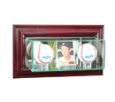 Perfect Cases Wall Mounted Card and Double Baseball Display Case