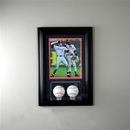 Perfect Cases Wall Mounted Double Baseball 8 x 10 Display Case