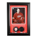 Perfect Cases Wall Mounted Double Puck Display Case with 8 x 10