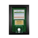 Perfect Cases Wall Mounted Golf Display Case with Scorecard and Engraving