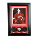 Perfect Cases Wall Mounted Triple Puck Display Case with 8 x 10