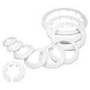 Pipe Cover Decoration PP Pipe Cover Collar Radiator Escutcheon Water Pipe Wall Cover White 4 Pcs
