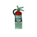 Pit Posse Fire Extinguisher Bracket 4.5 Rack Silver - 529
