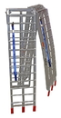 Pit Posse Pair Folding Arched Ramp 7' 4in x 11in 1500lbs - PP2755P