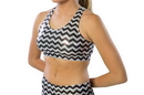 Pizzazz 1213CM Adult Chevron Metallic Sports Bra