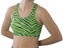 Pizzazz 3600ZG Adult Zebra Glitter Sports Bra