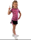 Pizzazz 6700AP Youth Animal Print Raglan Cap Sleeve Tee