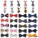 TOPTIE 30 Pcs Adjustable Dog Bow Ties Collar Christmas Festival Pet Bowties Neckties