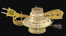 B & P #2 Brass Plated Electric Burner / Gold Cord